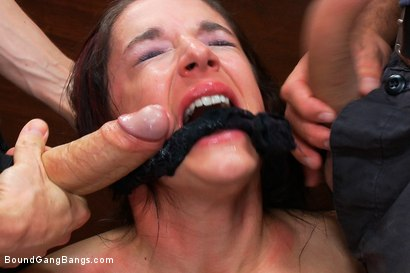 Photo number 4 from Brunette Bank Teller with Big Round Ass gets Gangbanged by Bank Robbers in her Naughty Fantasy shot for Bound Gang Bangs on Kink.com. Featuring Ramon Nomar, John Strong, Toni Ribas, Sheena Ryder and Owen Gray in hardcore BDSM & Fetish porn.