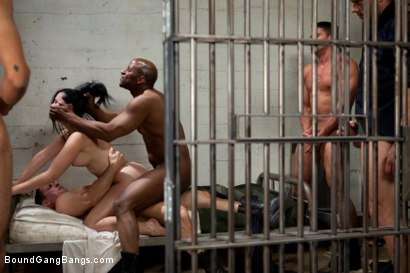 Photo number 14 from French Hottie gets pounded by 5 prison guards shot for Bound Gang Bangs on Kink.com. Featuring Ramon Nomar, Toni Ribas, John Strong, Mickey Mod, Prince Yahshua and Angell Summers in hardcore BDSM & Fetish porn.
