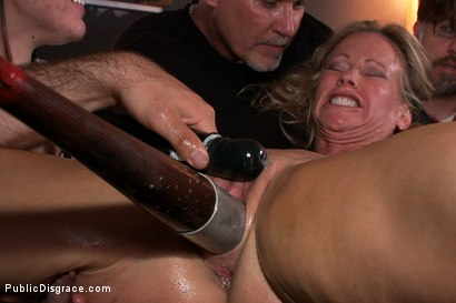 Photo number 13 from Sexy Big Tit MILF gets Ass Fucked by Strangers in Public! Squirting, BDSM, Bondage, Humiliation! shot for Public Disgrace on Kink.com. Featuring Simone Sonay and Mark Davis in hardcore BDSM & Fetish porn.