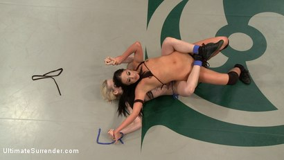 Photo number 2 from SUMMER VENGEANCE!!!! Bottom Ranked Wrestlers fight for Victory and a Chance to Move Ahead! shot for Ultimate Surrender on Kink.com. Featuring Shae Simone and Angelica Swiss in hardcore BDSM & Fetish porn.