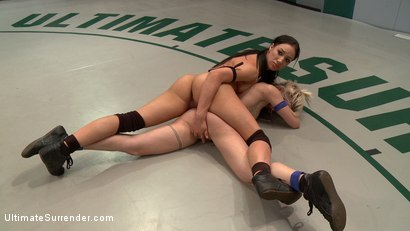 Photo number 9 from SUMMER VENGEANCE!!!! Bottom Ranked Wrestlers fight for Victory and a Chance to Move Ahead! shot for Ultimate Surrender on Kink.com. Featuring Shae Simone and Angelica Swiss in hardcore BDSM & Fetish porn.
