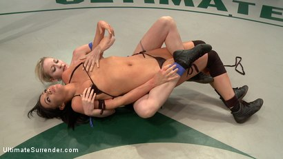 Photo number 3 from SUMMER VENGEANCE!!!! Bottom Ranked Wrestlers fight for Victory and a Chance to Move Ahead! shot for Ultimate Surrender on Kink.com. Featuring Shae Simone and Angelica Swiss in hardcore BDSM & Fetish porn.