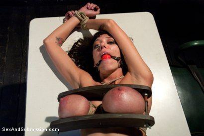 Photo number 12 from The Mechanic: Huge Natural Tits MILF Fucked and Dominated!  shot for sexandsubmission on Kink.com. Featuring Alia Janine and Mark Davis in hardcore BDSM & Fetish porn.