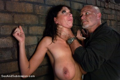 Photo number 4 from The Mechanic: Huge Natural Tits MILF Fucked and Dominated!  shot for sexandsubmission on Kink.com. Featuring Alia Janine and Mark Davis in hardcore BDSM & Fetish porn.