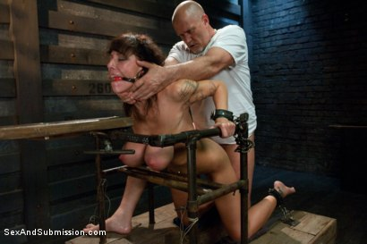 Photo number 10 from The Mechanic: Huge Natural Tits MILF Fucked and Dominated!  shot for Sex And Submission on Kink.com. Featuring Alia Janine and Mark Davis in hardcore BDSM & Fetish porn.