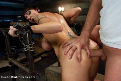 Photo number 11 from The Mechanic: Huge Natural Tits MILF Fucked and Dominated!  shot for Sex And Submission on Kink.com. Featuring Alia Janine and Mark Davis in hardcore BDSM & Fetish porn.