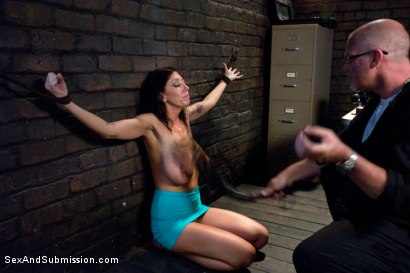 Photo number 5 from The Mechanic: Huge Natural Tits MILF Fucked and Dominated!  shot for Sex And Submission on Kink.com. Featuring Alia Janine and Mark Davis in hardcore BDSM & Fetish porn.
