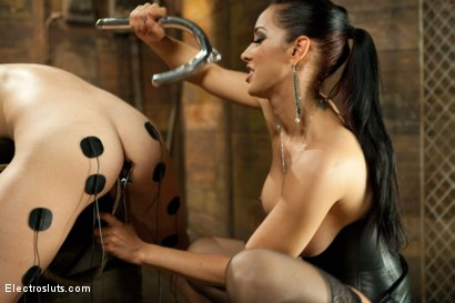 Photo number 5 from Elecro Lezdom Isis Love Opens Audrey's tight Asshole shot for Electro Sluts on Kink.com. Featuring Isis Love and Audrey Rose in hardcore BDSM & Fetish porn.