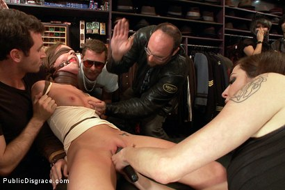 Photo number 3 from Nothing is Hard Enough for Maddy O'Reily......Until Today shot for Public Disgrace on Kink.com. Featuring James Deen and Maddy O'Reilly in hardcore BDSM & Fetish porn.