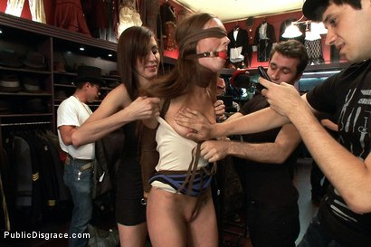 Photo number 2 from Nothing is Hard Enough for Maddy O'Reily......Until Today shot for Public Disgrace on Kink.com. Featuring James Deen and Maddy O'Reilly in hardcore BDSM & Fetish porn.