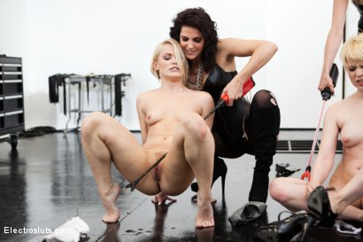 Photo number 1 from Bobbi Starr & Maitresse Madeline Break Down Two Blonde Sluts LIVE in the Brand New Electrosluts Set! shot for Electro Sluts on Kink.com. Featuring Alani Pi, Bobbi Starr, Maitresse Madeline Marlowe  and Ash Hollywood in hardcore BDSM & Fetish porn.