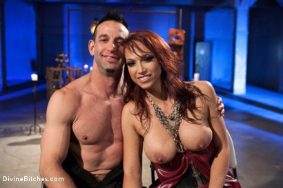 Photo number 9 from Chastity Humiliation shot for Divine Bitches on Kink.com. Featuring Jason Miller and Nicki Hunter in hardcore BDSM & Fetish porn.