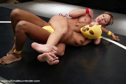 Photo number 4 from Ice (8-0) vs. The Yellow Kitty (0-1) shot for Ultimate Surrender on Kink.com. Featuring Janay and Yellow Kitty in hardcore BDSM & Fetish porn.