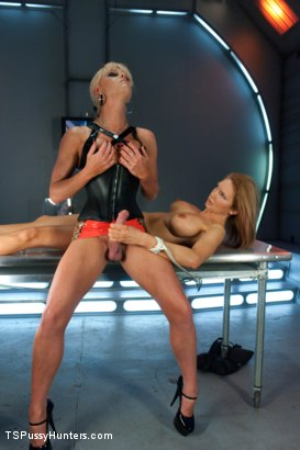 Photo number 4 from Sexy, Sexy, Sexiness: Rain DeGrey Cloned by Beautiful Ts Joanna Jet shot for TS Pussy Hunters on Kink.com. Featuring Joanna Jet and Rain DeGrey in hardcore BDSM & Fetish porn.