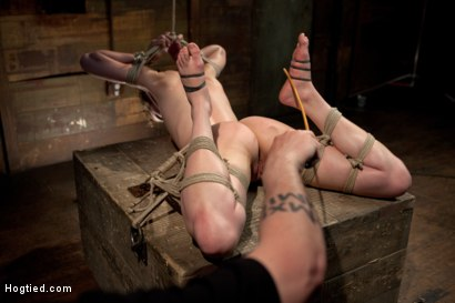Photo number 6 from Cute red-head tests her masochistic tendencies with JP The Pope shot for Hogtied on Kink.com. Featuring Bonnie Day in hardcore BDSM & Fetish porn.
