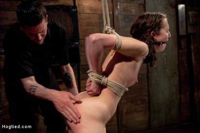 Photo number 3 from Cute red-head tests her masochistic tendencies with JP The Pope shot for Hogtied on Kink.com. Featuring Bonnie Day in hardcore BDSM & Fetish porn.
