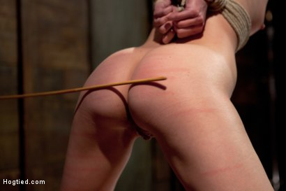 Photo number 4 from Cute red-head tests her masochistic tendencies with JP The Pope shot for Hogtied on Kink.com. Featuring Bonnie Day in hardcore BDSM & Fetish porn.