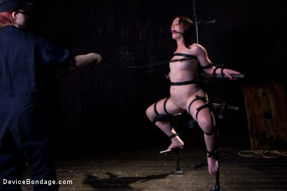 Photo number 16 from Sarah Shevon Suffers - Live Show Part 1 shot for Device Bondage on Kink.com. Featuring Sarah Shevon in hardcore BDSM & Fetish porn.