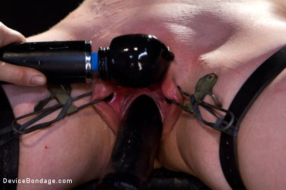 Photo number 10 from Sarah Shevon Suffers - Live Show Part 1 shot for Device Bondage on Kink.com. Featuring Sarah Shevon in hardcore BDSM & Fetish porn.
