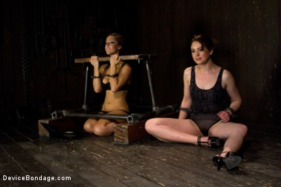 Photo number 4 from Sarah Shevon Suffers - Live Show Part 1 shot for Device Bondage on Kink.com. Featuring Sarah Shevon in hardcore BDSM & Fetish porn.