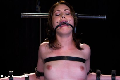 Photo number 6 from Sarah Shevon Suffers - Live Show Part 1 shot for Device Bondage on Kink.com. Featuring Sarah Shevon in hardcore BDSM & Fetish porn.