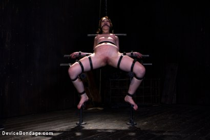 Photo number 7 from Sarah Shevon Suffers - Live Show Part 1 shot for Device Bondage on Kink.com. Featuring Sarah Shevon in hardcore BDSM & Fetish porn.