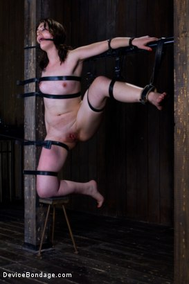 Photo number 3 from Sarah Shevon Suffers - Live Show Part 2 shot for Device Bondage on Kink.com. Featuring Sarah Shevon in hardcore BDSM & Fetish porn.