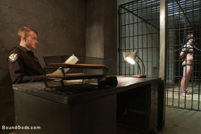 Photo number 1 from Bad-ass Inmate shot for Bound Gods on Kink.com. Featuring Christian Wilde and Troy Daniels in hardcore BDSM & Fetish porn.