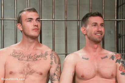 Photo number 15 from Bad-ass Inmate shot for Bound Gods on Kink.com. Featuring Christian Wilde and Troy Daniels in hardcore BDSM & Fetish porn.