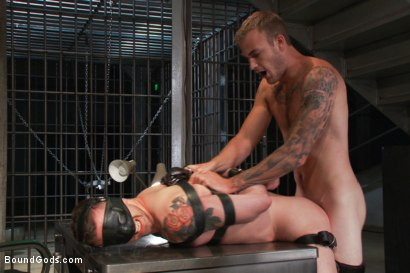 Photo number 6 from Bad-ass Inmate shot for Bound Gods on Kink.com. Featuring Christian Wilde and Troy Daniels in hardcore BDSM & Fetish porn.