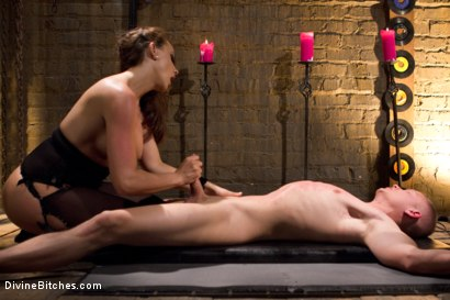 Photo number 5 from The Premature Ejaculator shot for Divine Bitches on Kink.com. Featuring Chanel Preston and Micah Andrews in hardcore BDSM & Fetish porn.