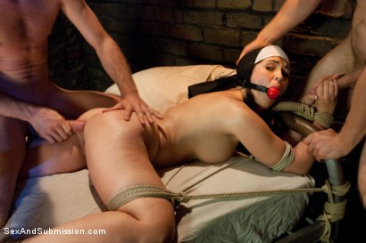 Photo number 7 from Sins of Sister Summers shot for sexandsubmission on Kink.com. Featuring James Deen, Danny Wylde and Angell Summers in hardcore BDSM & Fetish porn.