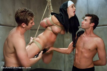 Photo number 10 from Sins of Sister Summers shot for Sex And Submission on Kink.com. Featuring James Deen, Danny Wylde and Angell Summers in hardcore BDSM & Fetish porn.