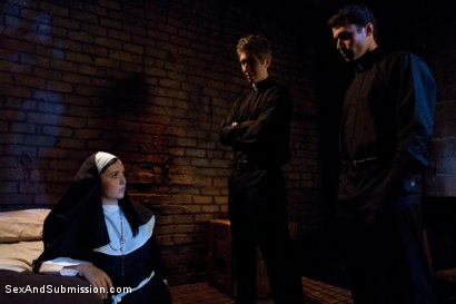 Photo number 3 from Sins of Sister Summers shot for sexandsubmission on Kink.com. Featuring James Deen, Danny Wylde and Angell Summers in hardcore BDSM & Fetish porn.