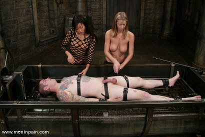 Photo number 7 from Miss Brooke, Diablo and Lucy Lee shot for Men In Pain on Kink.com. Featuring Brooke Banner, Daemon and Lucy Lee in hardcore BDSM & Fetish porn.