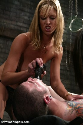 Photo number 10 from Miss Brooke, Diablo and Lucy Lee shot for Men In Pain on Kink.com. Featuring Brooke Banner, Daemon and Lucy Lee in hardcore BDSM & Fetish porn.