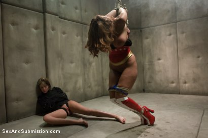 """Photo number 11 from """"OPERATION AMERICANA"""" <br>America's greatest hero, cumming like a whore shot for Sex And Submission on Kink.com. Featuring Christina Carter, Isis Love, Princess Donna Dolore and Riley Rey in hardcore BDSM & Fetish porn."""