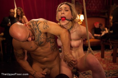 Photo number 7 from Slave Initiation: piggy<br>Part 1 shot for The Upper Floor on Kink.com. Featuring Krysta Kaos, Lily LaBeau, Dylan Ryan, Beretta James and Derrick Pierce in hardcore BDSM & Fetish porn.