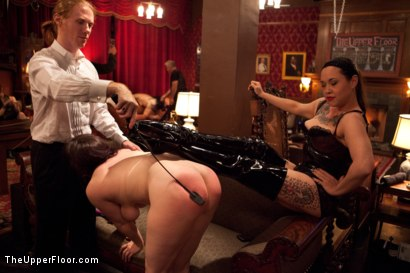 Photo number 6 from Slave Initiation: piggy<br>Part 1 shot for The Upper Floor on Kink.com. Featuring Krysta Kaos, Lily LaBeau, Dylan Ryan, Beretta James and Derrick Pierce in hardcore BDSM & Fetish porn.