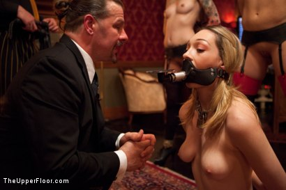 Photo number 1 from Slave Initiation: piggy<br>Part 1 shot for The Upper Floor on Kink.com. Featuring Krysta Kaos, Lily LaBeau, Dylan Ryan, Beretta James and Derrick Pierce in hardcore BDSM & Fetish porn.