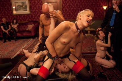 Photo number 1 from Slave Initiation: piggy Part 2 shot for The Upper Floor on Kink.com. Featuring Krysta Kaos, Lily LaBeau, Dylan Ryan, Beretta James and Derrick Pierce in hardcore BDSM & Fetish porn.