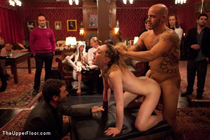 Photo number 3 from Slave Initiation: piggy Part 2 shot for The Upper Floor on Kink.com. Featuring Krysta Kaos, Lily LaBeau, Dylan Ryan, Beretta James and Derrick Pierce in hardcore BDSM & Fetish porn.