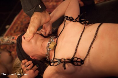 Photo number 5 from Slave Initiation: piggy Part 2 shot for The Upper Floor on Kink.com. Featuring Krysta Kaos, Lily LaBeau, Dylan Ryan, Beretta James and Derrick Pierce in hardcore BDSM & Fetish porn.