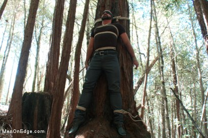 Photo number 2 from Bound Gods Dom Josh West Gets Edged Deep in the Woods shot for Men On Edge on Kink.com. Featuring Josh West in hardcore BDSM & Fetish porn.