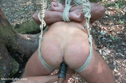 Photo number 10 from Bound Gods Dom Josh West Gets Edged Deep in the Woods shot for Men On Edge on Kink.com. Featuring Josh West in hardcore BDSM & Fetish porn.