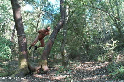 Photo number 12 from Bound Gods Dom Josh West Gets Edged Deep in the Woods shot for Men On Edge on Kink.com. Featuring Josh West in hardcore BDSM & Fetish porn.