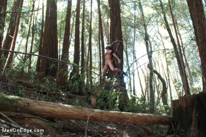 Photo number 6 from Bound Gods Dom Josh West Gets Edged Deep in the Woods shot for Men On Edge on Kink.com. Featuring Josh West in hardcore BDSM & Fetish porn.