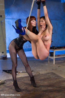 Photo number 12 from Maitresse Madeline and Tia Ling: A Three Year Reunion! shot for Whipped Ass on Kink.com. Featuring Tia Ling and Maitresse Madeline Marlowe in hardcore BDSM & Fetish porn.