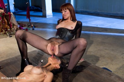 Photo number 3 from Maitresse Madeline and Tia Ling: A Three Year Reunion! shot for Whipped Ass on Kink.com. Featuring Tia Ling and Maitresse Madeline Marlowe in hardcore BDSM & Fetish porn.