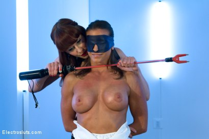 Photo number 2 from Maitresse Madeline Pushes Tough and Sexy Ariel X to her Electro Limits!!!! shot for Electro Sluts on Kink.com. Featuring Ariel X and Maitresse Madeline Marlowe in hardcore BDSM & Fetish porn.